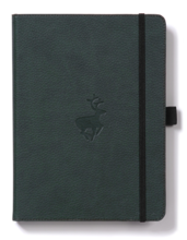 Dingbats* Wildlife Green Deer Notebook A5+ Plain