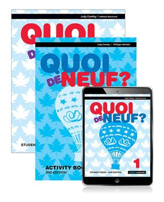 Quoi de Neuf ? 1 Student Book, EBook and Activity Book (2nd edition)