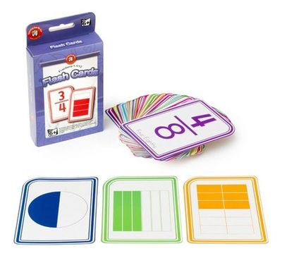 Fractions 1-11/12 Flash Cards Ages 6+ - GNS