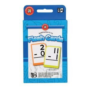 Subtraction 0-15 Flash Cards Ages 6+ - GNS