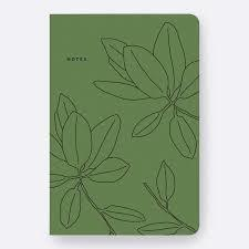 Father Rabbit Notebook - Green Leaves
