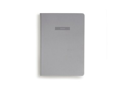 Weekly 2020 Diary Soft Cover Notebook A5 Classic grey