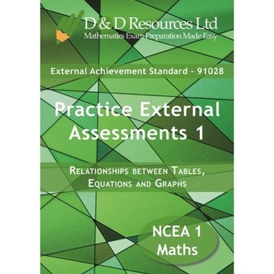 Practice External Assessments 1: Relationships Between Tables, Equations and Graphs (91028)