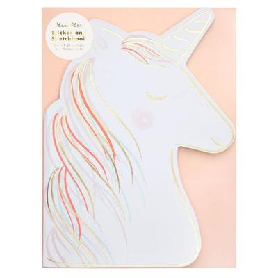 Unicorn Sticker and Sketch Book