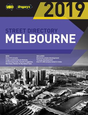 Melbourne Street Directory 2019 53rd ed