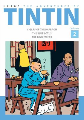 The Adventures of Tintin (Bind-Up #2: Cigars of the Pharaoh, The Blue Lotus, The Broken Ear)