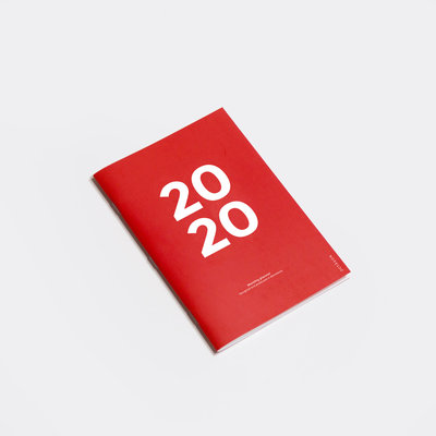 Octagon 2020 Monthly Planner A4 Red