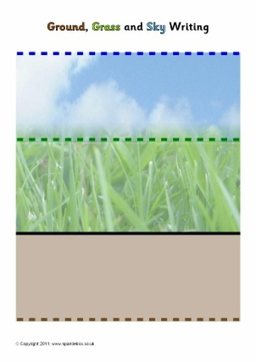 64 page Exercise Book  Ground,Grass,Sky 14mm Dotted Thirds