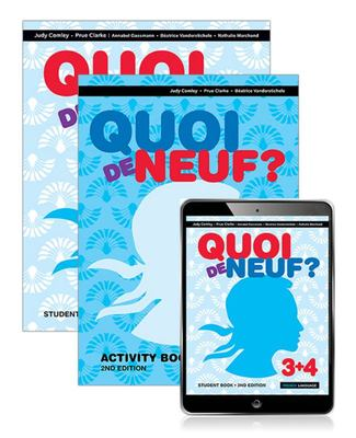 Quoi de Neuf ? 3+4 Student Book, EBook and Activity Book (2nd Edition)