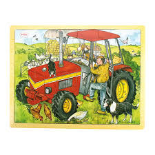 Tractor Wooden Tray Puzzle (24 pce)