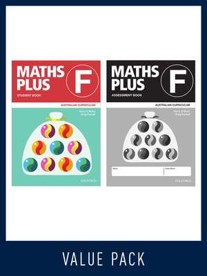 Maths Plus Australian Curriculum Student and Assessment Book F Value Pack 2020 - Oxford