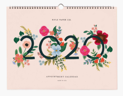 2020 Appointment Calendar - Wild Rose (Rifle Paper Co.)