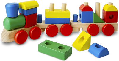 Wooden Stacking Train Ages 2+ Melissa & Doug - MND572 - Modern
