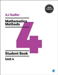 Mathematics Methods 4 Student Book with Code Unit 4 - 1st Ed Revised New Format -SECONDHAND