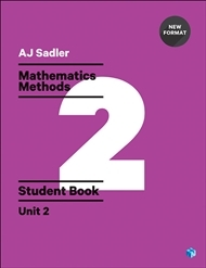 Mathematics Methods Student Book with Code (unused) Unit 2 - 1st Ed Revised New Format - SECONDHAND