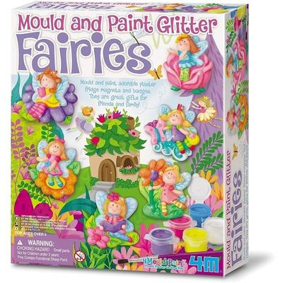 Mould & Paint Glitter Fairy  Magnets/Badges
