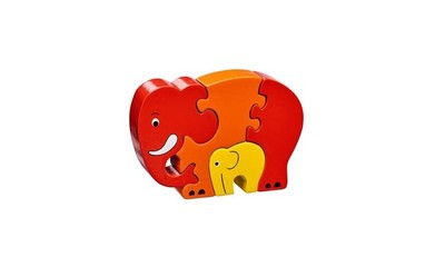 Elephant & Baby Fairtrade Wooden Puzzle