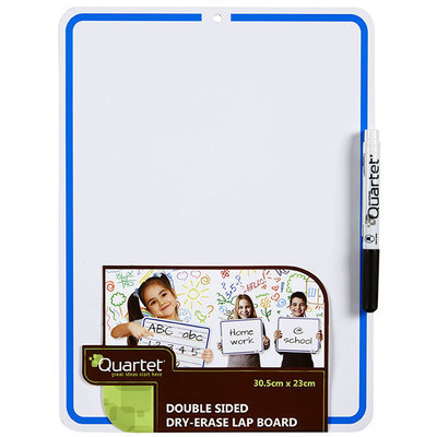 Double Sided Blank/Dotted Thirds  Dry-Erase Lap Board (white board) with Marker A4 - 305mm x 230mm Quartet - GNS