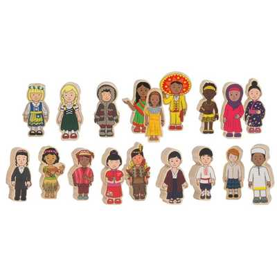 Children Around the World Wooden 18 pieces 6cm Ages 2+ - 474511 - Edex