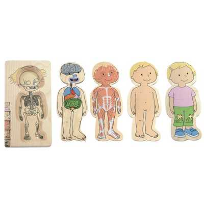 Your Body Girl Layered Wooden Puzzle 28 Pieces 14 W x 29 H cm - 300582 - Edex