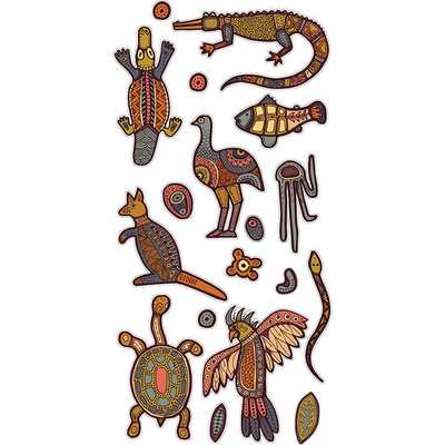 Indigenous Stickers 5 sheets - 516019 - Edex