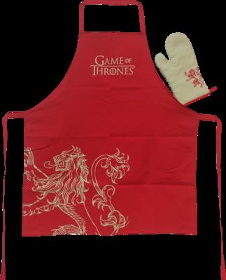 GOT - Lannister Apron & Mit Set