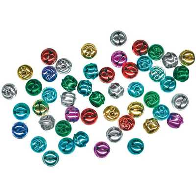 Coloured Jingle Bells Pack of 50 18mm Ages 3+ - 20422 - Edex