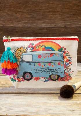 Canvas Pouch Happy Car Singing