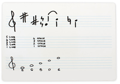 Music Double Sided Whiteboard Flexible A4 Single - Abacus