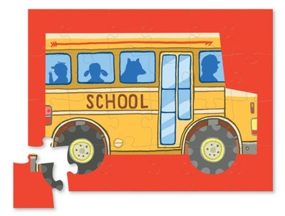 School Bus: Mini Shaped Vehicle Puzzle 24pc