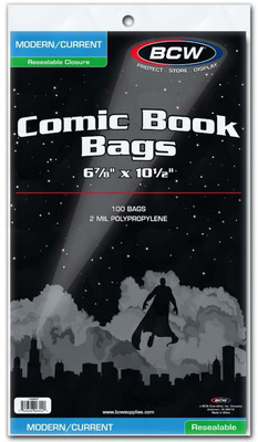 BCW RESEALABLE CURRENT COMIC BAGS