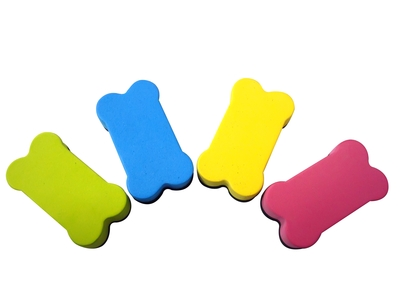 Whiteboard Magnetic Eraser Small 7cm x 4cm Assorted Colours - GNS