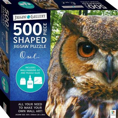Jigsaw Gallery 500-piece Shaped Jigsaw: Owl