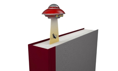 Bookmark - from Outer Space Gold UFO2