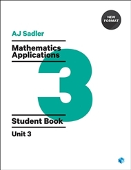 Mathematics Applications Student Book with Code Unit 3 - 1st Ed Revised New Format -Secondhand