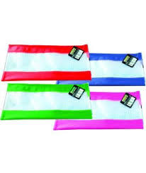 Pencil Case Mesh / Coloured Strips 340 x 170mm Osmer - MCB3417 - GNS
