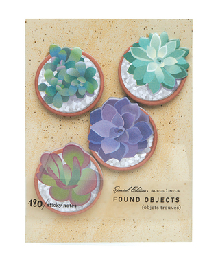 Sticky Notes - Found Objects Succulents