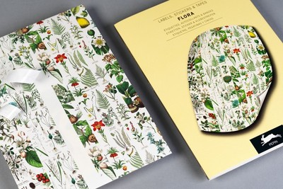 Flora : Label & Sticker Book