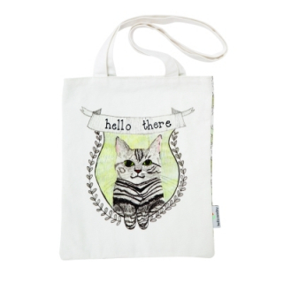 Book Bag Bea the Cat - Medium Tote