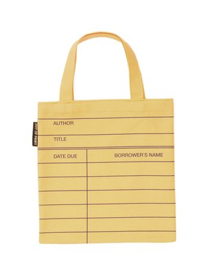 Library Card Tote Bag Out of Print Kids
