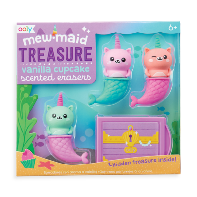MewMaid Treasure Erasers
