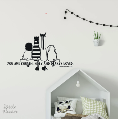 LOVE ONE ANOTHER - Scripture Wall Decal