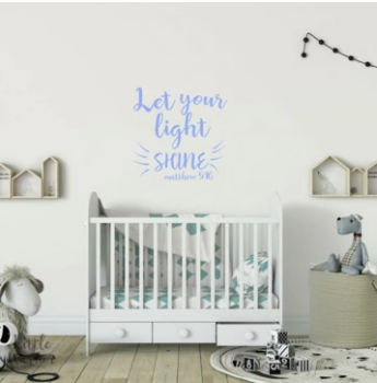 LET YOUR LIGHT SHINE - Scripture Wall Decal