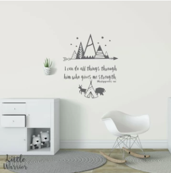 I CAN DO ALL THINGS - Scripture Wall Decal