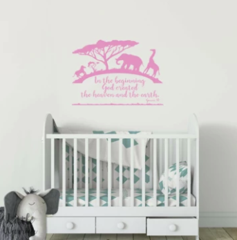 IN THE BEGINNING - Scripture Wall Decal