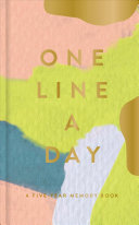 Modern One Line a Day: A Five-Year Memory Book Diary