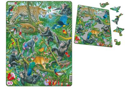 African Rainforest Framed Puzzle 70 pce