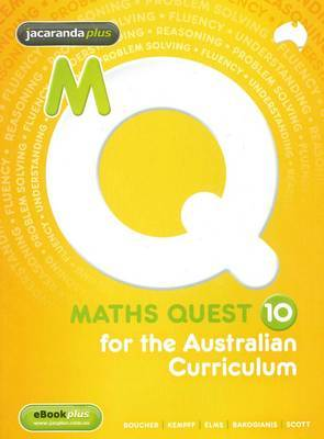 MATHS QUEST 10 FOR THE AUSTRALIAN CURRICULUM- SECONDHAND