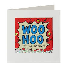 Woo Hoo Birthday Shakies Card