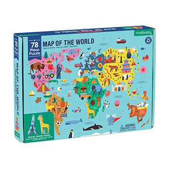 Geography Map of the World: 78-Piece Jigsaw Puzzle (MP-G0735360846)